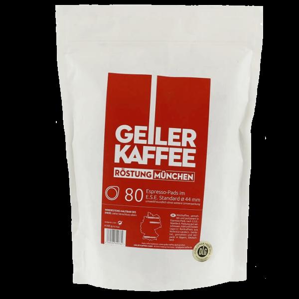 Geiler Kaffee Röstung München ESE Pads ohne Alu-Umverpackung