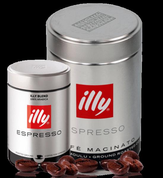 Illy Espresso Röstung S schwarz 250 Gramm gemahlen