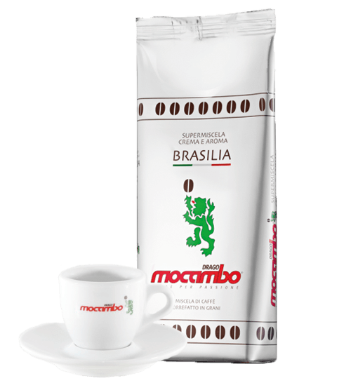 Mocambo Kaffee Brasilia 3 x 1kg Bohnen + Espressotasse gratis