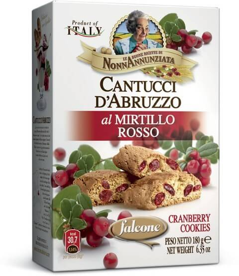 Cantucci d'Abruzzo al Mirtillo Rosso 180g