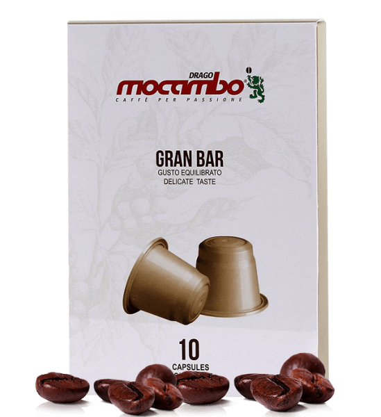 Mocambo Gran Bar Kapseln - Nespresso® kompatibel - 10 Kapseln