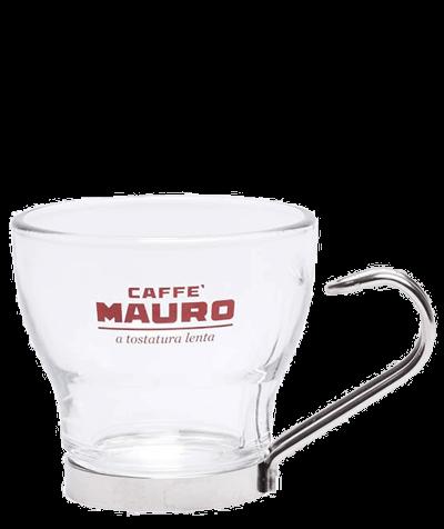 Mauro Espresso Tasse aus Glas mit Metallgriff