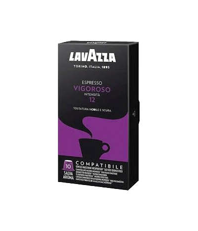 Lavazza Espresso Vigoroso - 10 Kapseln Nespresso® kompatibel