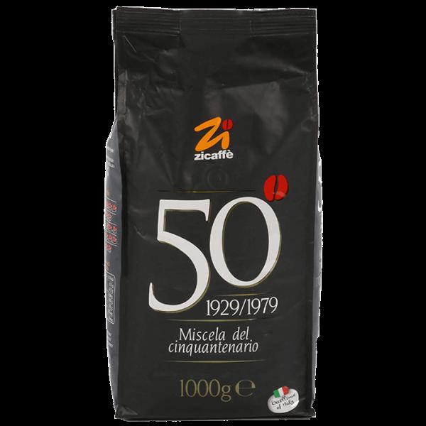 Zicaffe Cinquantenario Espresso Kaffee 1000 Gramm Bohnen