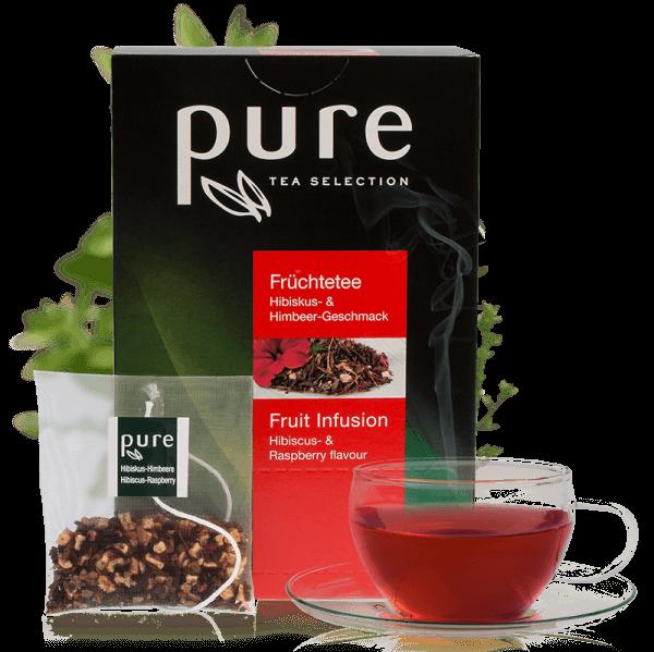 Pure Tee Selection Früchtetee Hibiskus & Himbeere 1 Box