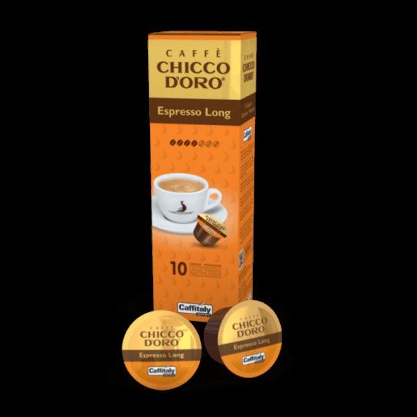 Chicco d'Oro Espresso Long Kapseln 1 VE-10 Kapseln a 8g