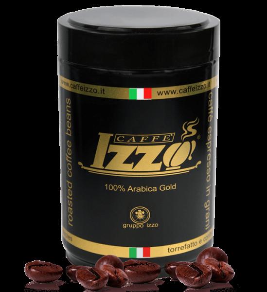 Izzo Gold 100% Arabica Caffe Espresso 250g Bohnen Dose