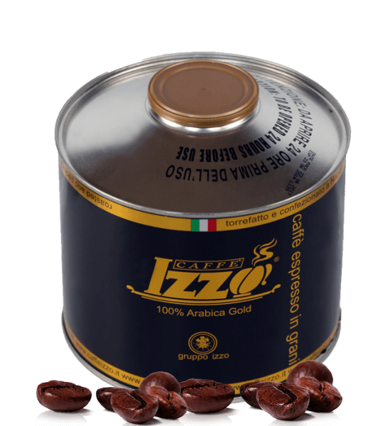 Izzo Gold 100% Arabica Caffe Espresso 1000 g Bohnen Dose